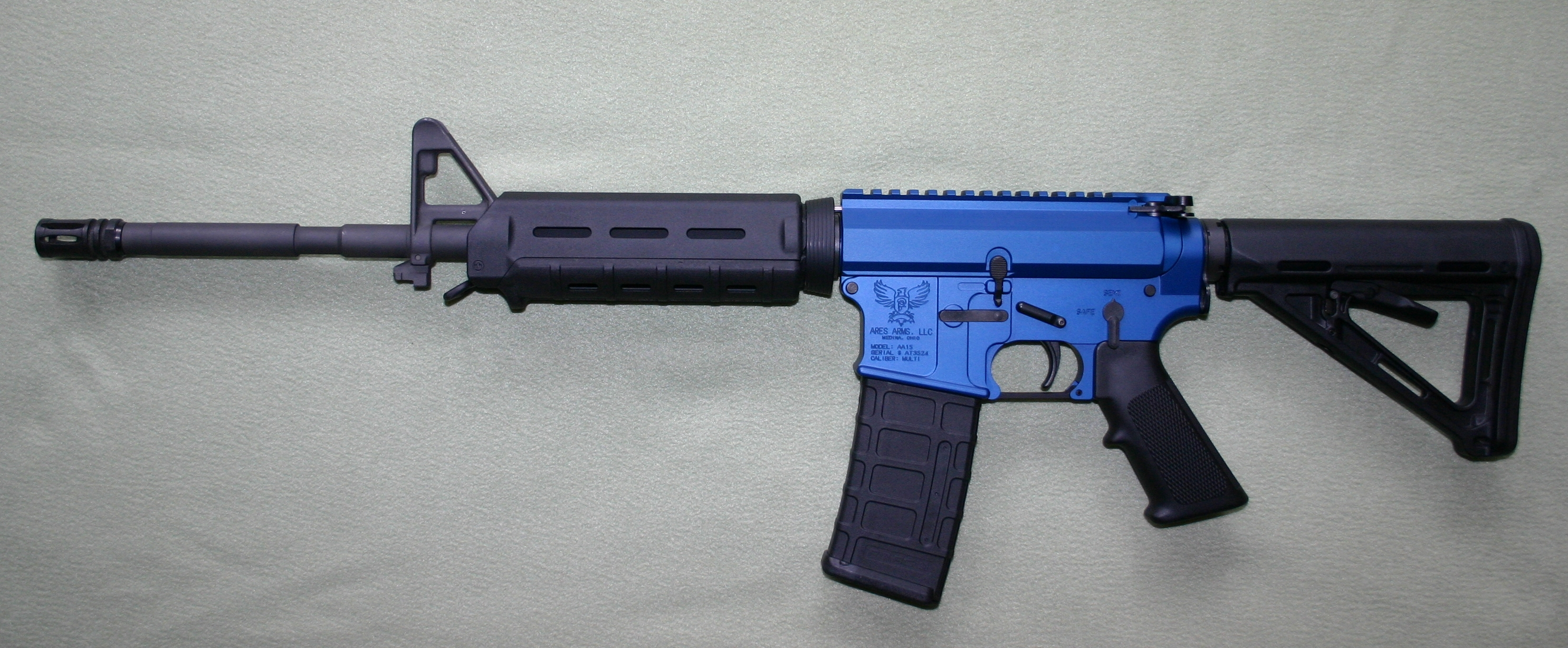 Ares Arms AA-15 Blue M4-Style - Magpul Stock and Handguards